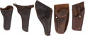 Western Expansion:Cowboy, Five Western Holsters with Imprints of Texas Makers.... (Total: 5 )