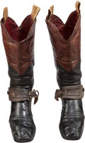 "Western Expansion:Cowboy, Fine Pair of ""Working"" Western Boots with Original Spurs. ..."