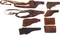 Western Expansion:Cowboy, Eight Leather Holsters by Identified Makers.... (Total: 8 )