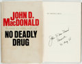 Books:Literature 1900-up, John D. MacDonald. INSCRIBED. No Deadly Drug. Doubleday,1968. First edition. Inscribed by the author on the half-...