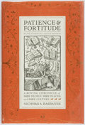 Books:Books about Books, [Books about Books]. Nicholas A. Basbanes. Patience and Fortitude. New York: Harper Collins, [2001]. First edition. ...