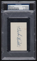Autographs:Others, Signed Circa 1940 Babe Ruth Blank Business Card PSA/DNA Authentic....