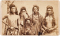 American Indian Art:Photographs, Utah Native Americans: A Rare Early Carte de Visite Image ofFive Braves by C.W. Carter's Photo Gallery, Salt Lake...