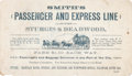 Transportation:Railroad, Deadwood, South Dakota: Stagecoach Advertising Card....