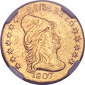 Early Quarter Eagles, 1807 $2 1/2 -- Plugged, Whizzed -- NGC Details. XF. BD-1, R.3....