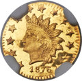 California Fractional Gold, 1876 50C Indian Round 50 Cents, BG-1065, R.5, MS66 Deep ProoflikeNGC....