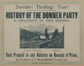Western Expansion:Goldrush, Donner Party: 1879 Graphic Book Advertisement....