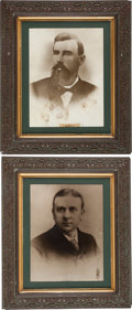 Photography:Official Photos, Vintage Mammoth Enlarged Photos of Bank President Wylie Payne and Chief Cashier George Gephart, Which Hung for Many Decades in... (Total: 2 Items)