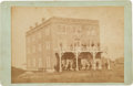 Photography:Cabinet Photos, Rare Cabinet Photo of the Leland Hotel in Caldwell, Kansas, Circa1879-80. ...