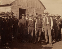 Important Original Albumen Photo of the Medicine Lodge Bank Robbers with the Posse that Captured Them