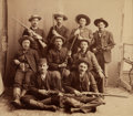 Photography:Official Photos, An Important Original Albumen Photo of the Heavily Armed Posse Members Who Captured the Medicine Lodge Bank Robbers. ...