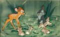 Animation Art:Production Cel, Bambi Bambi and Bunnies Production Cel Courvoisier Setup(Walt Disney, 1942)....