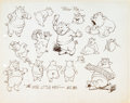 Animation Art:Production Cel, The Wise Little Hen Peter Pig Production Cel and Model Sheet(Walt Disney, 1934).... (Total: 2 Items)