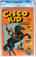 Golden Age (1938-1955):Western, Cisco Kid Comics #1 (Baily Publication, 1944) CGC VF/NM 9.0Off-white to white pages....