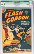 Golden Age (1938-1955):Science Fiction, Flash Gordon #1 Incomplete (Harvey, 1950) CGC Qualified FN+ 6.5Off-white to white pages....
