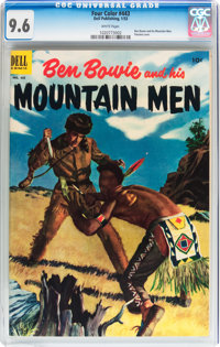 Four Color #443 Ben Bowie and his Mountain Men (Dell, 1953) CGC NM+ 9.6 White pages