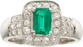 Jewelry, EMERALD, DIAMOND, WHITE GOLD RING. ...