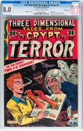 Golden Age (1938-1955):Horror, Three Dimensional Tales from the Crypt of Terror #2 - Double Cover(EC, 1954) CGC VF 8.0 Off-white to white pages....