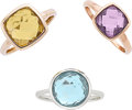 Estate Jewelry:Rings, MULTI-STONE, GOLD RINGS, CRAIG DRAKE. ...