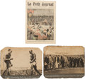 Antiques:Posters & Prints, Johnson-Jeffries: The Famous 1910 Prize Fight at Reno, Nevada. ...(Total: 3 Items)