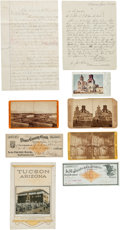 Miscellaneous:Ephemera, Tucson, Arizona Territory: An Interesting Archive of Photos andPaper Ephemera. ... (Total: 9 Items)