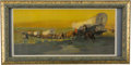 "Advertising:Signs, Oscar Edmund Berninghaus: ""Westward Ho!"" Anheuser Busch AdvertisingChromolithograph, Circa 1912. ..."