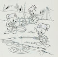 Original Comic Art:Covers, Bob Gregory (attributed) and Bill Wright Huey, Dewey, and LouieJunior Woodchucks #59 Cover Original Art (Gold Key...