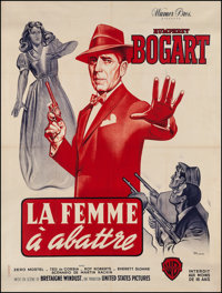 "The Enforcer (Warner Brothers, R-late 1950s). French Grande (47"" X 62.5""). Film Noir"