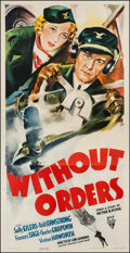 "Movie Posters:Drama, Without Orders (RKO, 1936). Three Sheet (41"" X 80""). Drama.. ..."