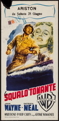 "Movie Posters:War, Operation Pacific (Warner Brothers, 1951). Italian Locandina (13"" X27.25""). War.. ..."