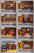 "Movie Posters:Adventure, The Iron Mask (Lippert, R-1953). Lobby Card Set of 8 (11"" X 14"").Adventure.. ... (Total: 8 Items)"