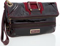 Luxury Accessories:Bags, Jimmy Choo Burgundy Distressed Patent Leather Wristlet. ...