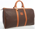 Luxury Accessories:Travel/Trunks, Celine Monogram Coated Canvas Duffle Bag with Gold Hardware. ...