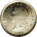 Colombia: , Colombia: Republic 50 Centavos 1898 Bogota, KM186.1a, AU58 NGC, nicely struck and fully lustrous, the details on Libertad's bust are p...
