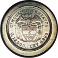 Colombia: , Colombia: Republic Uniface Die Trial 50 Centavos ND (1912), the reverse die for the 50 Centavos KM193.1 struck on a large lead planche...