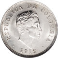 Colombia: , Colombia: Republic 50 Centavos 1912, KM193.1, MS63 NGC, brilliant white luster, very scarce quality. BC71....