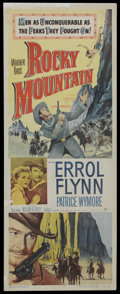 """Movie Posters:Western, Rocky Mountain (Warner Brothers, 1950). Insert (14"""" X 36""""). Western. ..."""