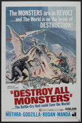 """Movie Posters:Science Fiction, Destroy All Monsters (American International, 1969). One Sheet (27""""X 41""""). Science Fiction. ..."""