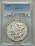 Morgan Dollars: , 1895-O $1 AU50 PCGS. PCGS Population (551/1418). NGC Census:(399/1885). Mintage: 450,000. Numismedia Wsl. Price for proble...