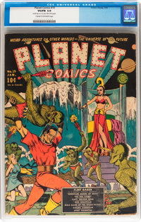 Planet Comics #10 (Fiction House, 1941) CGC VG/FN 5.0 Cream to off-white pages