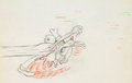 Animation Art:Production Drawing, Moose Hunters Goofy Production Drawing Animation Art (WaltDisney, 1937)....