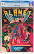 Golden Age (1938-1955):Science Fiction, Planet Comics #1 (Fiction House, 1940) CGC VG+ 4.5 Off-whitepages....