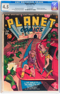 Planet Comics #1 (Fiction House, 1940) CGC VG+ 4.5 Off-white pages
