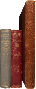 Autographs:Military Figures, W. S. Edgerly: Four Books from the Library of this Little Big HornFigure and Later Analyst of Custer's Strategy.... (Total: 4 Items)