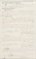 Autographs:Celebrities, [Doolin Gang (Wild Bunch)] Oklahoma Territory August 1896 Posse Document Written and Thrice-Signed by Frank M. Canton (aka Joe...