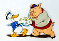 Animation Art:Production Cel, The Wise Hen Donald Duck and Peter Pig Production Cel (WaltDisney, 1934)....