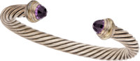 AMETHYST, GOLD, STERLING SILVER BRACELET, DAVID YURMAN