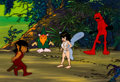 Animation Art:Color Model, Wizards Color Model Cels with Background (Fox/Ralph Bakshi,1977)....