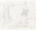 Animation Art:Production Drawing, A Day for Eeyore Background Production Drawings Group (WaltDisney, 1983).... (Total: 4 Original Art)