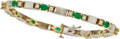 Jewelry, EMERALD, DIAMOND, GOLD BRACELET. ...